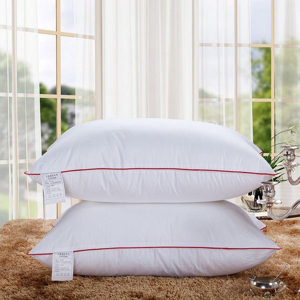 top popular Sleep Better Slumber Fresh Velvet Standard Bed Pillow in Hotel Home Decoration 48'74 CM (Color White) 2019