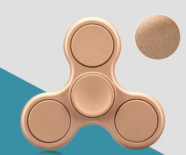 top popular Scrub Hand Fidget Spinner Creative Funny Toy Luminous EDC Finger Tri Hand Spinner ADHD Relieve Stress Handspinner LED Toy 2019