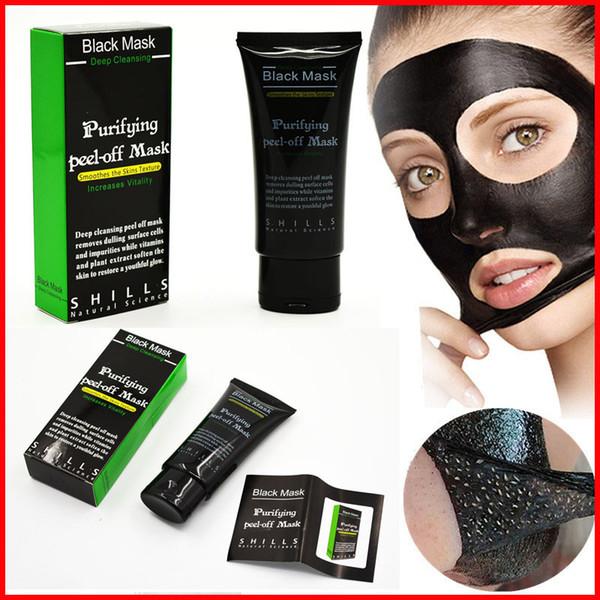 Yüksek Kaliteli SHILLS Derin Temizlik Siyah Maske Gözenek Temizleyici 50 ml Arındırıcı Soyma Maskesi Siyah Nokta Remover Yüz Maskesi Yüz Bakımı Ücretsiz DHL