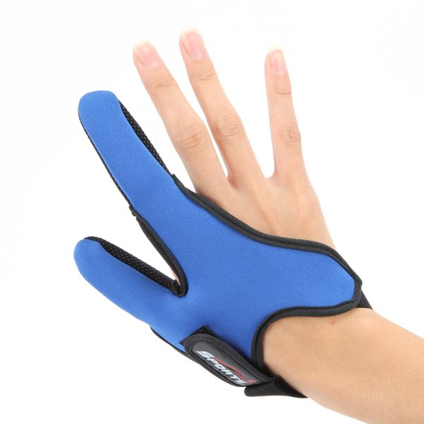 2017 Summer Anti-Slip Breathable Double Finger Gloves For Sea Fishing Outdoor Hunting Camping Two Finger Fish Glove For Men Blue Red Black