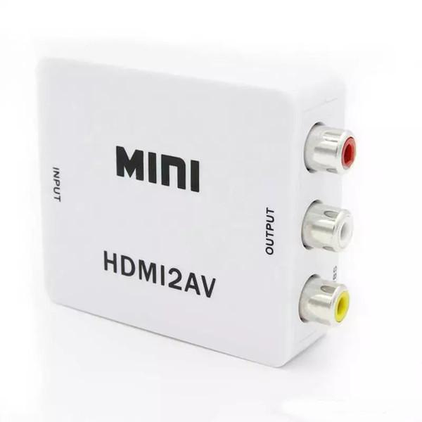 Конвертер 1080P Mini HDMI в CVBS Мини-видео конвертер HD Мини-конвертер HDMI в AV Поддержка NTSC PAL с розничным пакетом OM-CD8