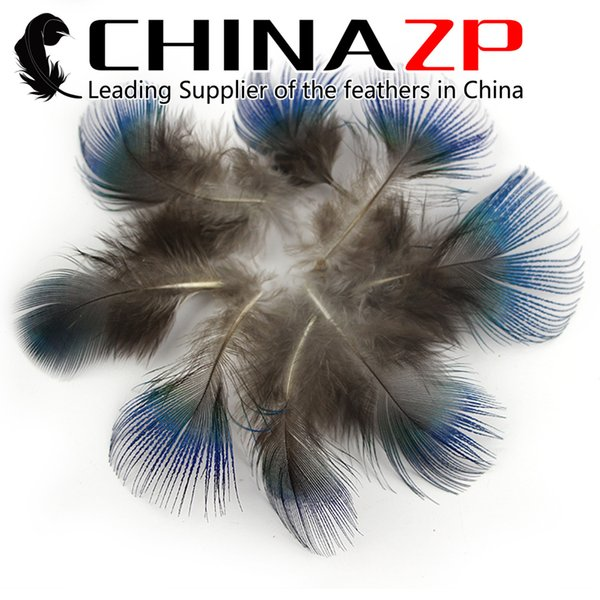 China Trading Manufacturer CHINAZP 5~8cm 100Pcs Featured Quality Loose Iridescent Blue Peacock Plumage Feathers for Wedding Decoration