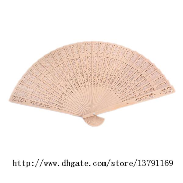Ventilatori di legno Matrimonio nuziale portatile Fancy cinese Sandalo Fan Fatti a mano pieghevole Bomboniere regalo 12pcs