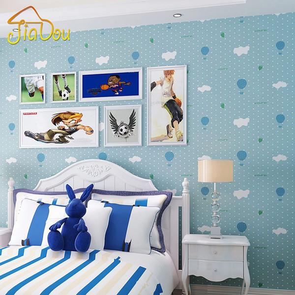 Großhandel Niedlichen Cartoon Ballon Tapete Blau Jungen Rosa Mädchen  Kinderzimmer Schlafzimmer Tapeten Wohnkultur Moderne Vliestapete Von  Hotseller1, ...