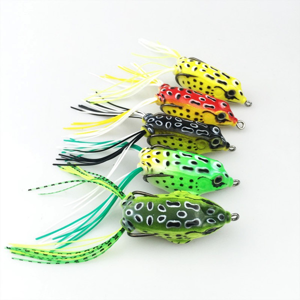 Wholesale High Quality Soft Frog Bait Lures 5CM 8G Bass Fishing Double Hooks Bait Crankbaits Fishing Tackle