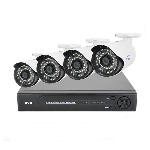2MP HD 4CH AHD CCTV System Kit 1920 * 1080P Home Metallkugel Überwachungskamera DVR Kit AHD 3000TVL Außen 4 Kanal Überwachung keine HDD