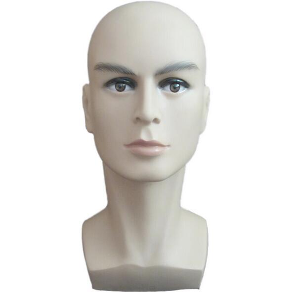 Espositore per cappello da uomo con manichino da esposizione per parrucca da allenamento per uomo