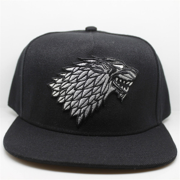 Wolf Hat Snapback Baseball Caps A Song Of Lce And Fire Winter Is Coming Hat Game Of Thrones House Stark Of Winterfell Embroid Hat