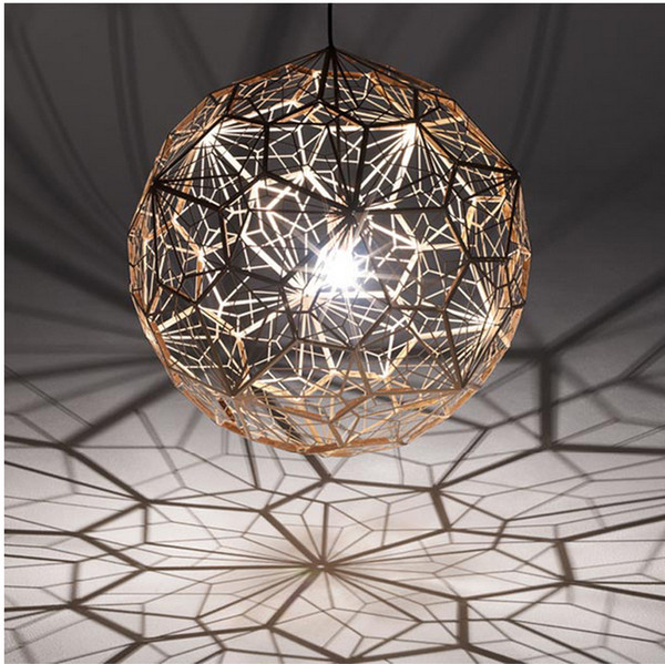 Modern Pendant Lamps Round Ball Silver Gold Copper Hanging Pendant Lights  Fixture Hotel Cafes Pub Bar