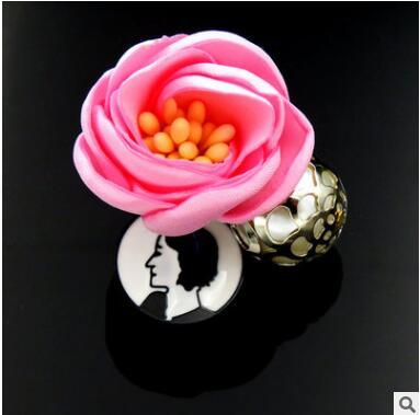 Han edition cloth art DIY manual camellia brooches bouquet Women's clothing accessories Corsage customize the accessories two colors