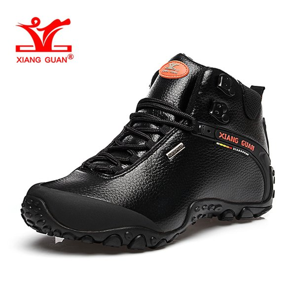 2019 Man Waterproof Hiking Shoes For Men High Top Leather Athletic Trekking Boots Black Sports Climbing Shoe 2018 Women Outdoor Walking Sneakers From
