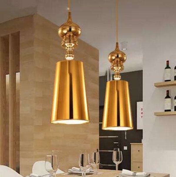 Modern Restaurant Bar Light Fixture Europe Style Living Room Corridor Guard Single Head Pendant Light Gold Silver Chrome