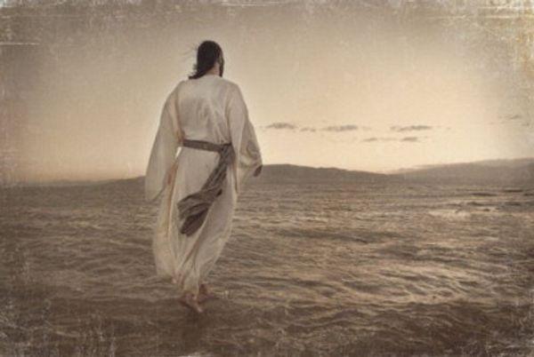 JESUS CHRIST WALKING ON WATER BY MELANIE EWING,Handpainted & HD Print Portraits Art Oil Painting On Canvas,Multi Sizes /Frame Options skeb