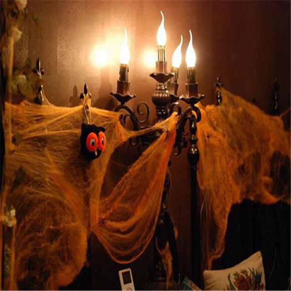 Хэллоуин страшные сцены партии реквизит 5colours паутина паутина ужас Хэллоуин украшения для бара дом с привидениями