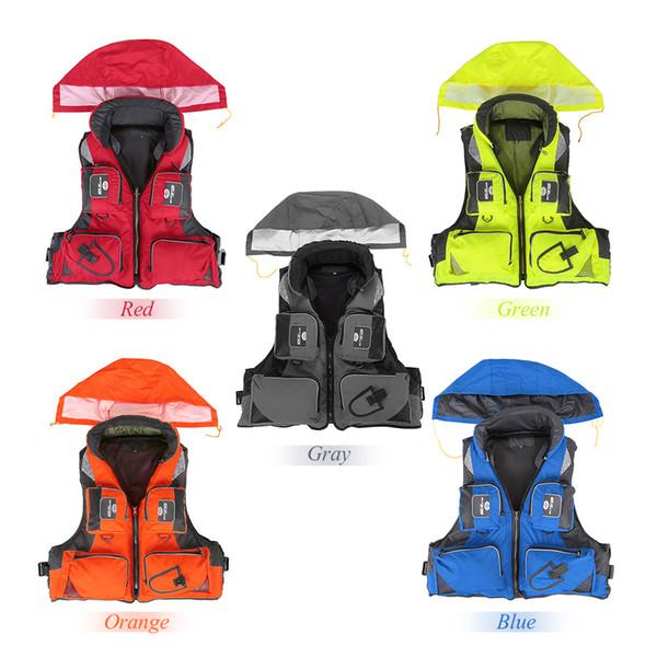 ports & Entertainment M-XXL Professional Jacket Vest Fishing Polyester Adult Safety Life Jacket Survival Life Vest Swimming Boating Drif...