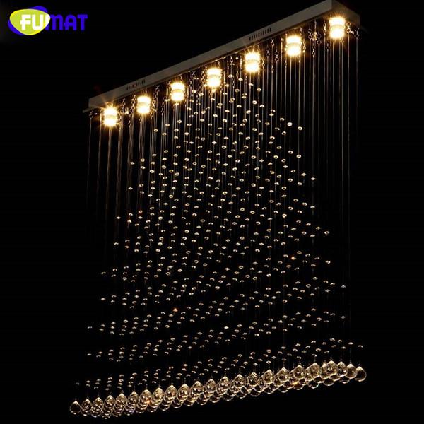 LED K9 Crystal Chandelier Crystal Pyramid Lámpara de Suspensión Salón Proyecto de Hotel Lustre Claro Rectangular Chandelier Villa