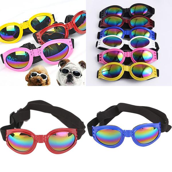 top popular Dog Glasses Fashion Foldable Sunglasses Medium Large Dog Glasses Big Pet Waterproof Eyewear Protection Goggles UV Sunglasses WX-G14 2020
