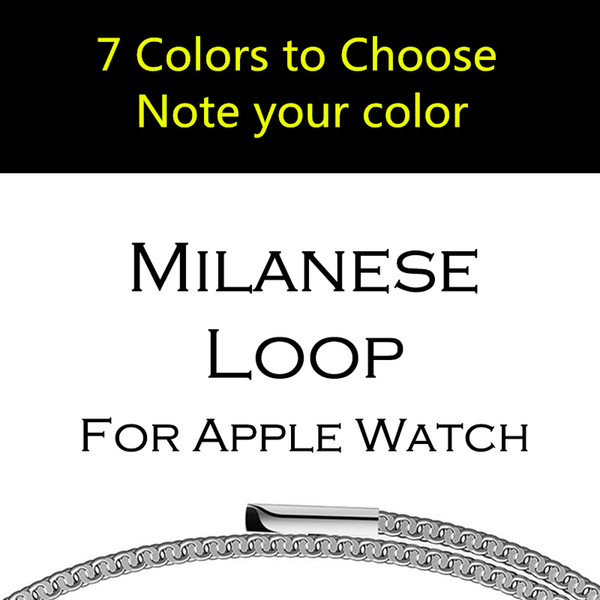 For Apple iWatch Series 4 3 Bands 38MM 42MM Correa Milanese Magnetic Loop Strap Link Bracelet Stainless Steel For Apple Watch Band 44mm 40mm