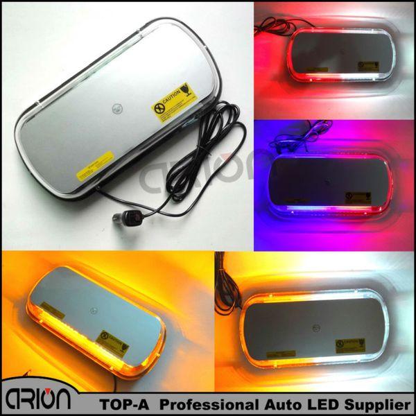 Auto 44 LED Beacon Emergency Strobe Flashing Warning Lights Car Roof Police Lightbar Road Safety Light Amber White Red Blue 12V
