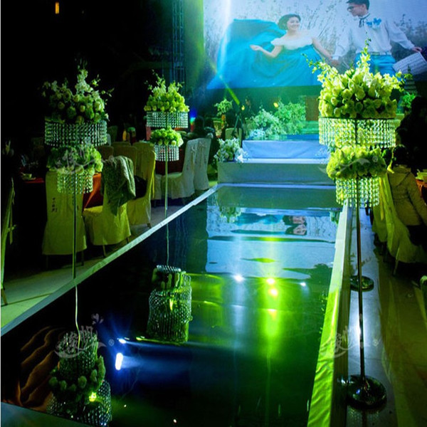 Fashion Wedding Backdrop Centerpieces Decor Mirror Carpet Aisle Runner For Party Decoration Supplies 1m/1.2m/1.5/1.8m/2m Wide