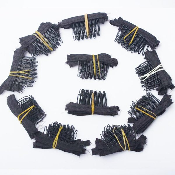 Wholesale 100pcs Clips 7teeth For Wig Cap Making Combs hair extensions tools