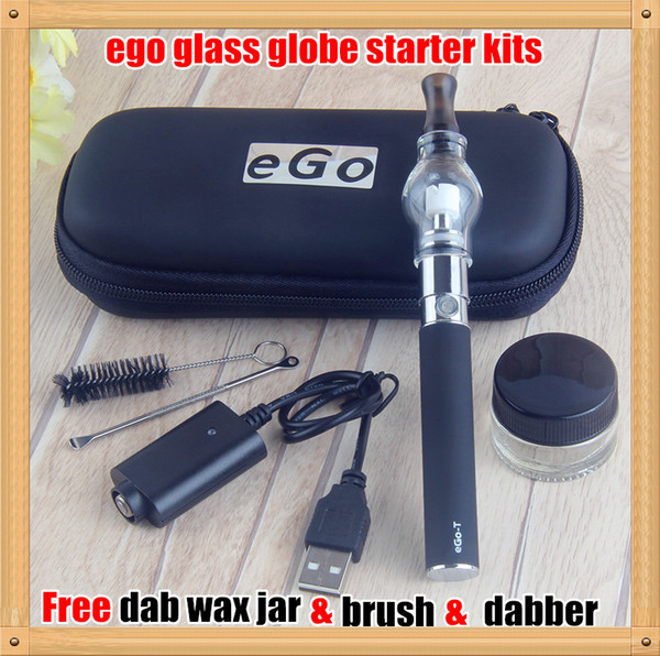 1PCS COLORS Dome Portable Vaporizer Portable Wax Vape Pen Discreet glass globe Waxy Oils Compact ego Battery electronic cigarette vs ego CE4