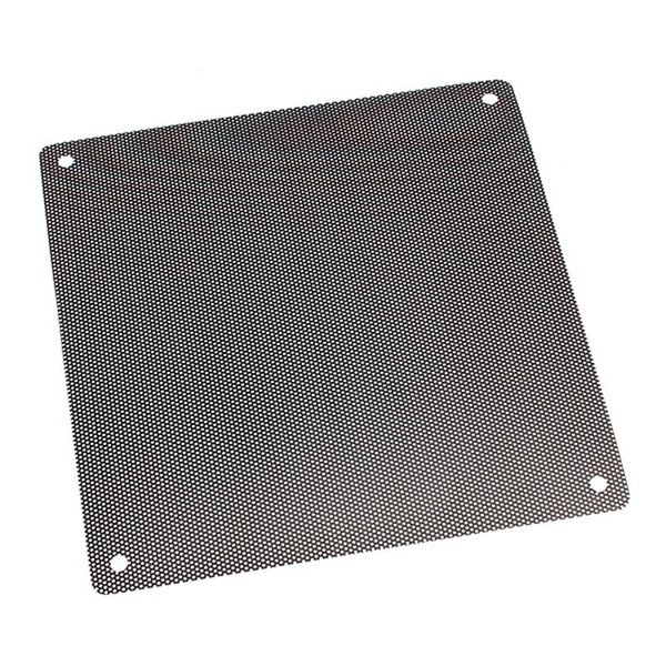 Wholesale- New Arrival 14cmx14cm Computer Cooling Fan Filter PVC 140mm PC Fan Case Dust Filter Strainer Dustproof Mesh Cuttable
