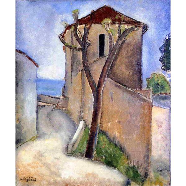 Современные абстрактные картины дерево и дома Амедео Модильяни воспроизведение холст искусство ручная роспись домашнего декора