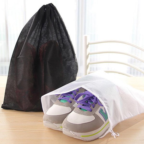 10PCS Thick Non-Woven Travel Shoe Storage Bag Cloth Suit Organizer Bra Case Garment Galocha Packing Cubes Covers Bag For Toys
