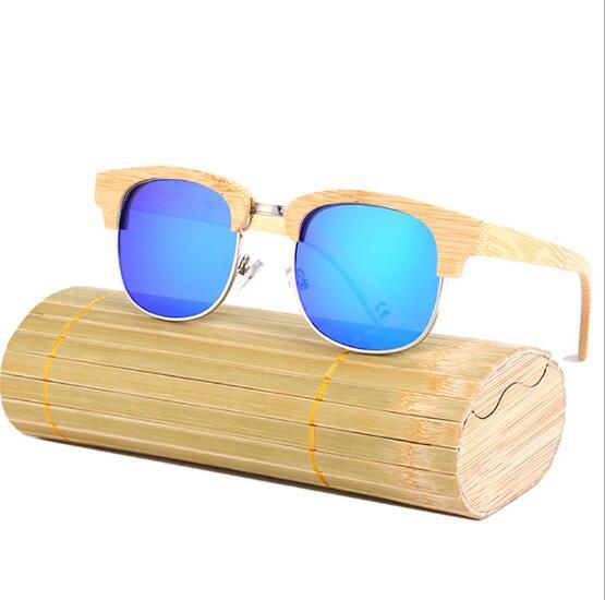 Знаменитые бренд-дизайнеры Мужчины Женщины Роскошные солнцезащитные очки Женщины Bamboo Wood Handmade Солнцезащитные очки Мужская мода с бамбуковой коробкой Vintage Fashioh 2017