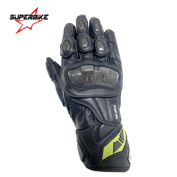 Carbon Fibre New Motorcycle Gloves GP PRO For Men Genuine Leather Motocross Protective Gear Cycling Whole Sale Free Shipping Drop Shipping