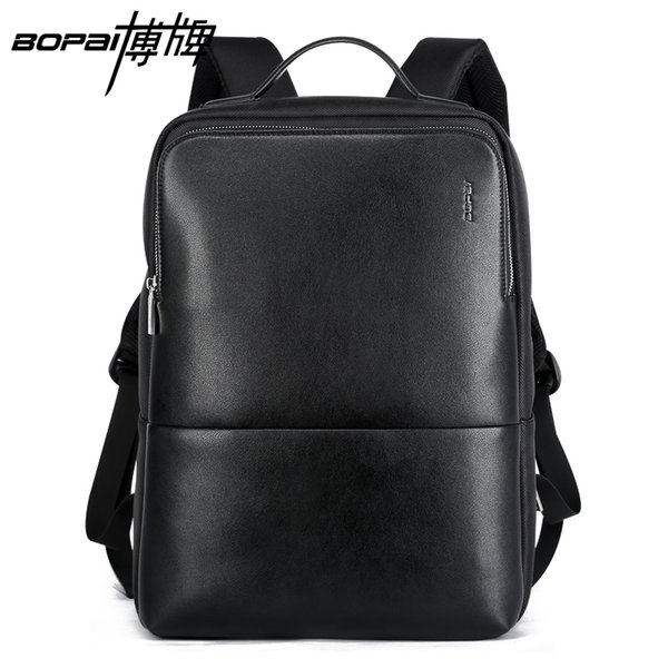 Wholesale- BOPAI 2016 New Arrival Mens Laptop Backpack Stylish Cool Backpack Korean Fashion Travel Backpack Durable Waterproof Book Bags
