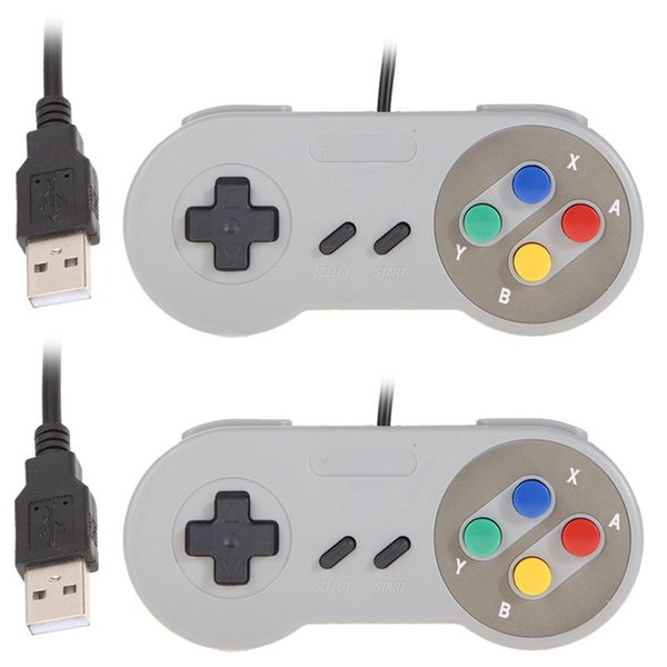 2 x Super Game Controller USB Wired Classic Gamepad for PC Laptop Computer for XP/for Vista L3EF