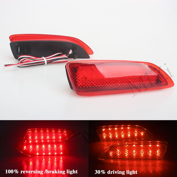 2PC Rear Bumper Reflector For Lexus CT200h Red Lens LED Tail Brake Light For Toyota Corolla 2011-13 Warning Lamp High Quality