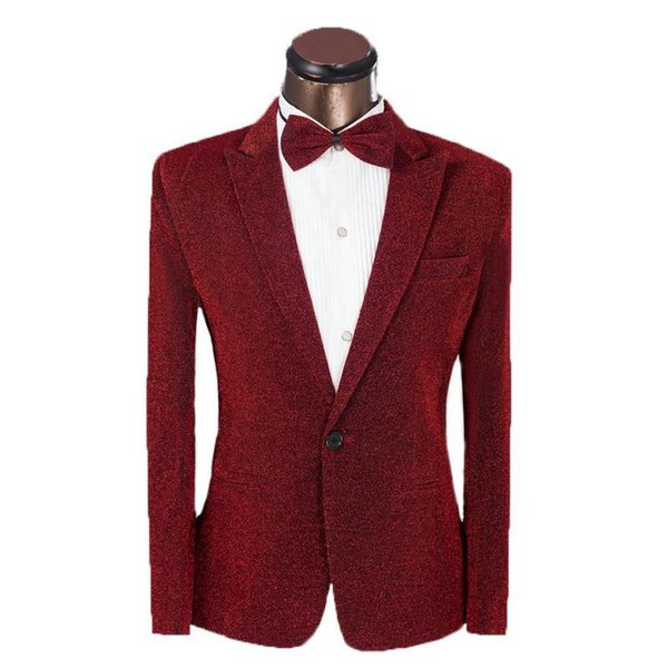 Nice New Vogue Men Suit Custom Golden Silk Suit Jacket Slim Fit Men Wedding Suit Groom Tuxedo For Men (jacket+pants+bowtie)4xl