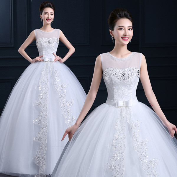 2016 Elegant Victorian Ball Gown Wedding Dresses Beaded Sheer ...