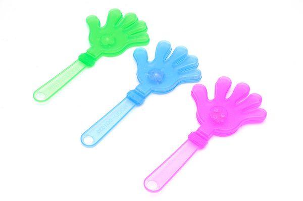 All'ingrosso- 50pcs / lot che infiammano i giocattoli luminosi della mano del led i rifornimenti luminosi del partito applaudono i giocattoli luminosi di festival del partito della palma i dispositivi di festa