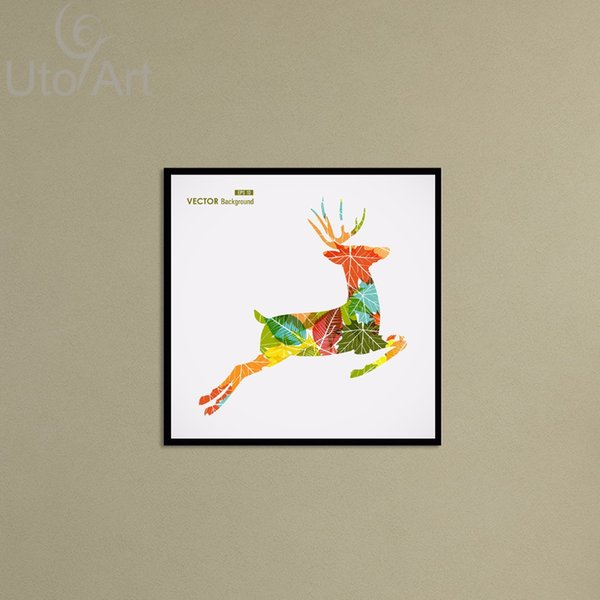 Cheap Wall Decor Art Painting Modern Nordic Color Deer Digital Picture Prints on Canvas Wall Frames Canvas Art for Living Room