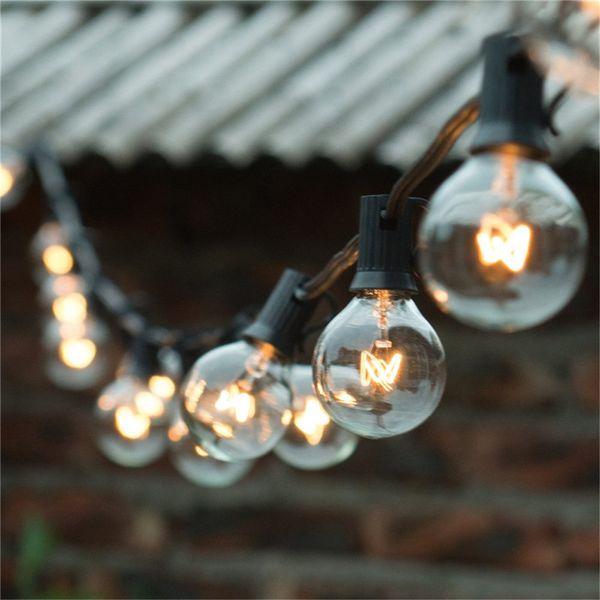 Acheter Cha ne De Lumi¨res 25ft Clear Globe Ampoule G40 String Light