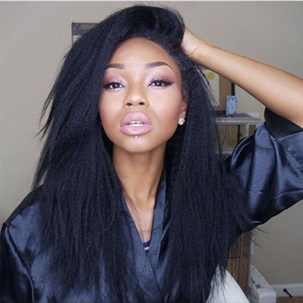 Full Lace Wigs Human Hair With Baby Hair For Black Women 8-26 Inch Kinky Straight Long Brazilain Virigin Wigs