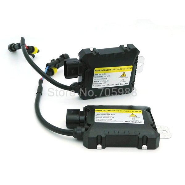 best selling 2Pcs Universal Slim Ballast Xenon HID Kit 9005 9006 H7 H1 Car DC 12V Xenon Hid Replacement 55W Ballast For All Bulbs