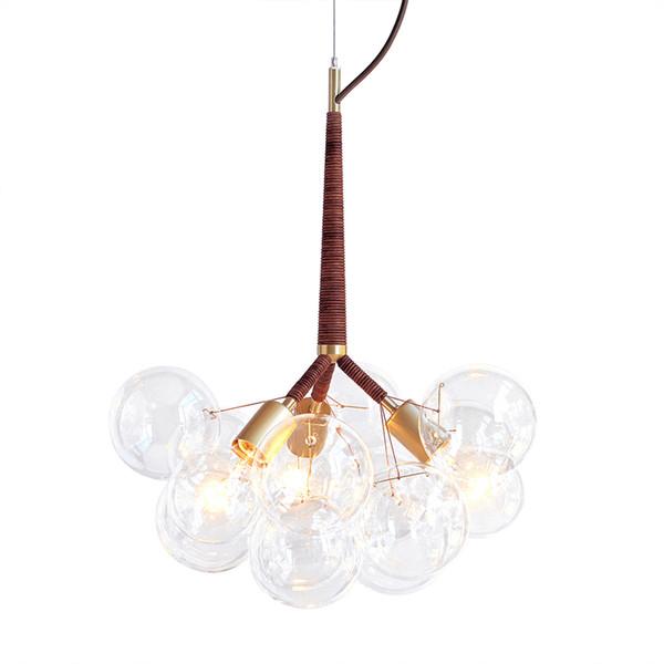 Modern Black Creative Glass Bubble Pendant Lamp Chandelier Fixture Ceiling Light Free shipping