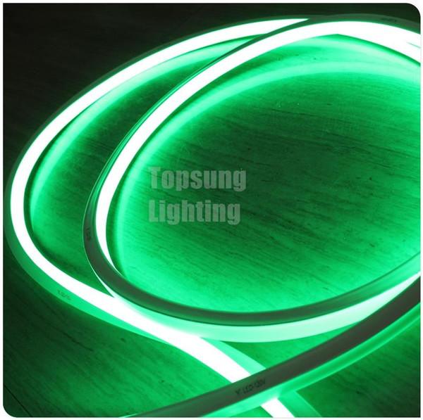 Sıcak satış 50 M biriktirme esnek LED şerit yeşil neon aydınlatma 16x16mm 12 v 24 v neon tel düz şerit 120 v 220 v