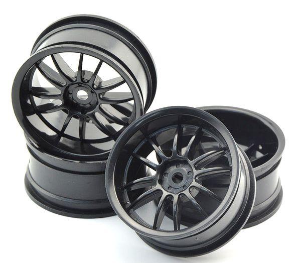 4pcs Plastic Wheel Rims For 1/10 RC Car Traxxas Axial Kyosho