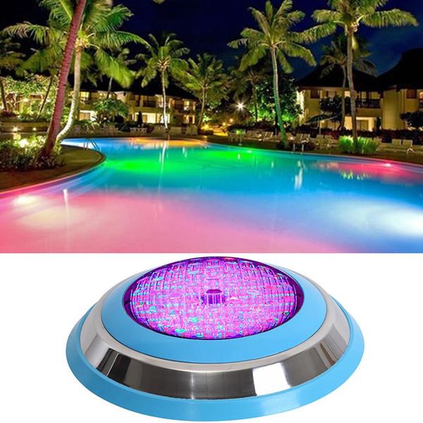 2 stücke Outdoor Unterwasser 54 Watt RGB LED Schwimmbad Licht Wand IP68 Teich Dekorieren Lampe AC12V Dhl-freies Verschiffen