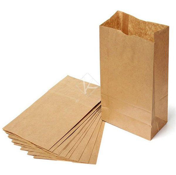 100 Pcs/lot Eco-friend Recyclable Kraft Shopping Bags Fast food Paper Bags Packaging Bags for food Popcorn Hamburger Coffee Nut many size