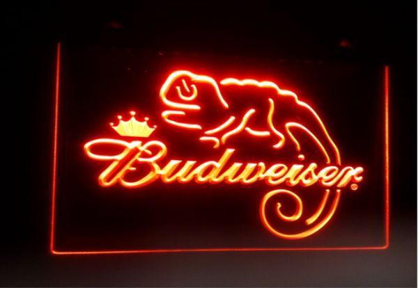best selling b11 Budweiser Frank Lizard Beer Bar pub club 3d signs LED Neon Light Sign home decor crafts