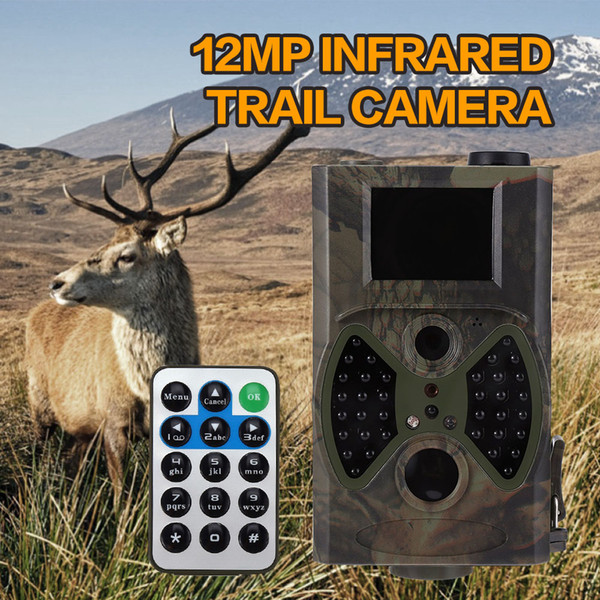 Wholesale-Hot 12MP Hunting Cameras Scouting Digital Wildlife Camera Infrared Trail HC - 300A Trap Game Cameras NO Glow Night Vision