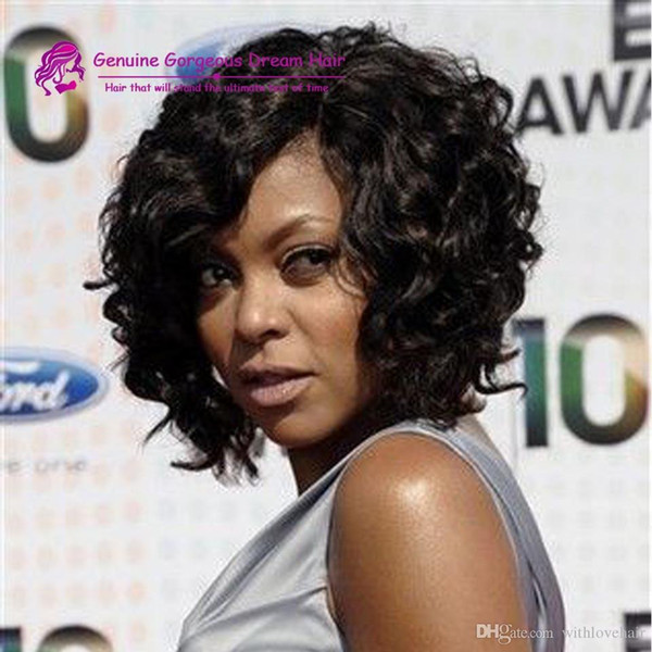 Kinky Curly Full Lace Wigs Best Natural Afro Short Curly Glueless Lace Front Human Hair Wigs For Black Women