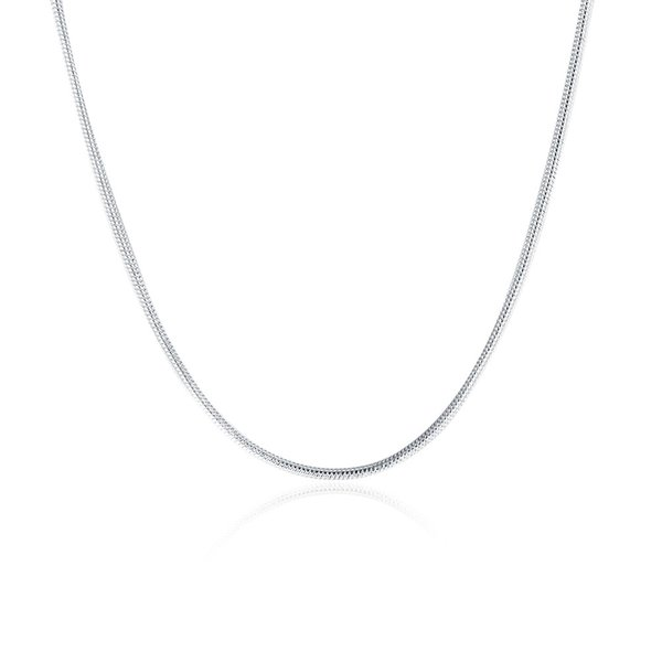 New Style 925 Silver 1mm Smooth Snake Chain Necklace Fit all Pendant Necklaces 16-24inch Free Shipping